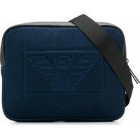 Emporio Armani Pochete Com Logo Perfurado - Azul
