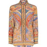 Etro Camisa Com Estampa Paisley De Seda - Estampado