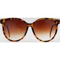 baba8d1bd CEA; Óculos De Sol Redondo Feminino Oneself Marrom - Único