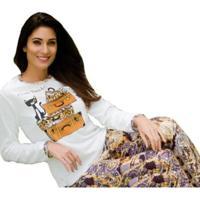 Pijama Victory Inverno Frio Longo Plush Feminino - Feminino