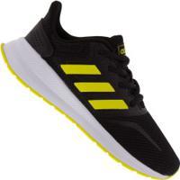 Tênis Adidas Run Falcon K - Infantil - Preto/Amarelo