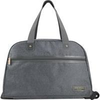 Bolsa De Viagem- Cinza Escuro- 31X55X26Cm- Jackijacki Design
