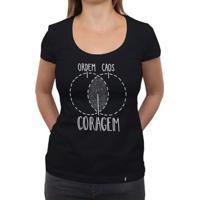 Ordem, Caos, Coragem - Camiseta Clássica Feminina