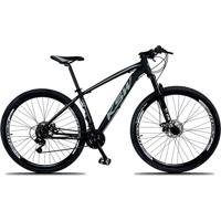 Bicicleta Xlt Aro 29 Quadro 19 Alumínio 21 Marchas Suspensão Freio Disco Preto/Cinza - Ksw