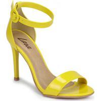 Sandália Salto Fino Lara Minimal Amarelo