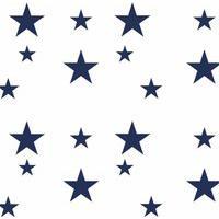 Adesivo De Parede Estrelas Azul Marinho Gráo De Gente Azul