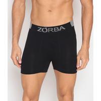 Cueca Boxer Seamless Extreme Sport- Preta & Cinza- Zzorba