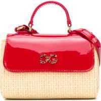 Dolce & Gabbana Kids Bolsa Tiracolo Com Placa De Logo - Neutro