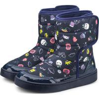 Bota Infantil Bibi Marinho Estampado Urban Boots 1087014 37