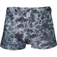 Sunga Boxer Mash Estampada Marble - Masculino-Cinza+Branco