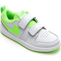 Tênis Infantil Nike Pico 5 Velcro - Masculino-Cinza+Verde