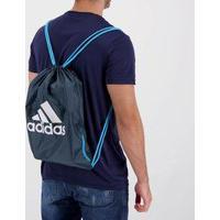 Bolsa De Ginástica Adidas Chumbo E Azul