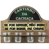 Cantinho Da Cachaça C/ 4 Copos Dirigir... Kasa Ideia - Tricae