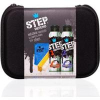 Kit Estojo+Spray Limpador 160Ml+Spray Impermeabilizante 160Ml+Escova De Limpeza+Pano De Microfibra - Unissex