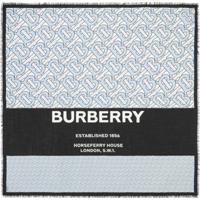 Burberry Lenço Quadrado Monogramado Grande - Azul