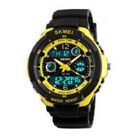 Relógio Skmei Infantil -0931- Preto E Amarelo