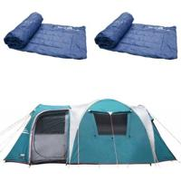 Barraca Camping Nautika Arizona Gt 9/10 Pessoas + 2 Colchonetes Camp Mat - Unissex