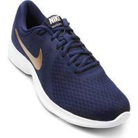 competitive price 46af1 8a820 ... Tênis Nike Wmns Revolution 4 Feminino - Feminino-Marinho+Dourado