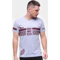Camiseta Onbongo Stripes Masculina - Masculino-Mescla