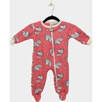 Macacão Infantil Longo Candy Kids Pijama Soft Com Pé E Zíper Unicórnio Baby - Feminino-Pink