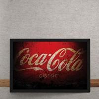 Quadro Decorativo Coca Cola Vermelho 25X35