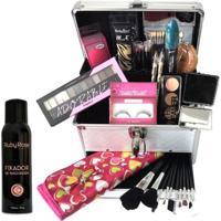 Maleta De Maquiagem Grande Kit De Maquiagem Com Fixador De Maquiagem Ruby Rose Hb312