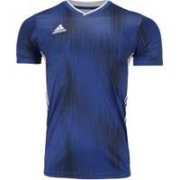 Camisa Adidas Tiro 19 - Masculina - Azul/Branco