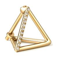 Shihara Brinco Triângulo Com Diamantes 10 (01) - Metálico