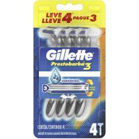 Aparelho De Barbear Descartável Gillette Prestobarba3 Leve 4 Pague 3