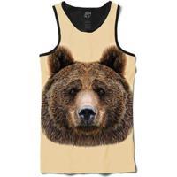 Camiseta Bsc Regata Bear Full Print - Masculino-Preto