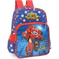 Mochila Escolar Super Wings Grande Infantil Jet