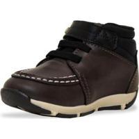Sapato Infantil Klin Outdoor Botinha Masculino - Masculino-Marrom