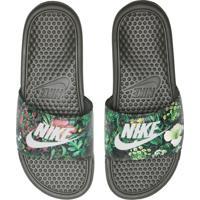 Chinelo Slide Nike Sportswear Benassi Jdi Prin Preto/Verde