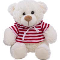 Urso Pelúcia Buba Marinheiro Listras Vermelhas Branco