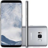 "Smartphone Samsung Galaxy S8 Prata 5.8"" Câmera De 12Mp 64Gb Octa Core"