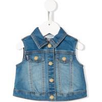 Moschino Kids Colete Jeans - Azul