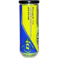 Bola De Tênis Dunlop Championship All Surface Tubo Com 3 Bolas - Unissex