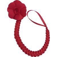 Prendedor De Chupeta Fuxicos & Frescuras Flor Mini Gérbera Vermelha