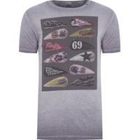 Camiseta Masculina Manga Curta Motorcycle - Cinza 80514421561