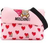 Moschino Kids Bolsa Com Trocador 'Toy Hearts' - Roxo