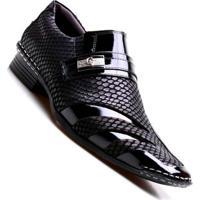 7b146e3b6 ... Sapato Social Masculino Calvest Luxo - Masculino-Preto