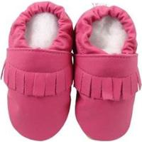 Pantufa Catz Calçados Infantil Couro Franja Feminina - Feminino-Pink