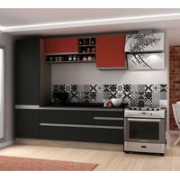 Cozinha Compacta Veneza 6 Pt 3 Gv Onix Com Rubi