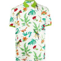 Etro Camisa Polo Com Estampa Floral - Neutro