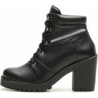 Bota Atron Shoes Super Estilo - Feminino-Preto