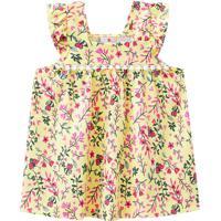 Vestido Para Bebe De Algodão Floral 41146 Brandili