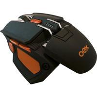 Mouse Cyber- Preto & Laranja- 3,5X9X13Cm- Usb