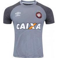 Camisa Do Atlético-Pr Aquecimento 2017 Umbro - Masculina - Cinza Esc/Cinza