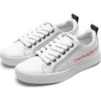 Tênis Calvin Klein Menino Lettering Branco