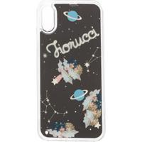 Fiorucci Capa Para Iphone X Liquid Space Angels - Preto